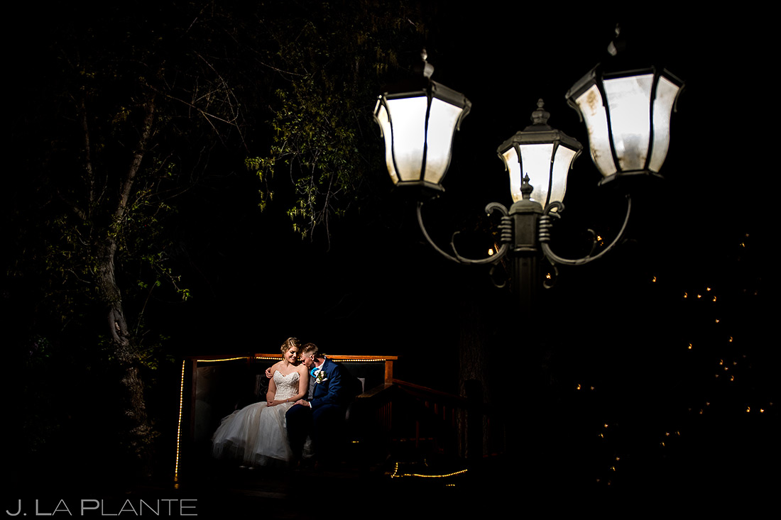 Bride and Groom Night Portrait | Wedgewood Boulder Creek Wedding | Boulder Wedding Photographer | J. La Plante Photo