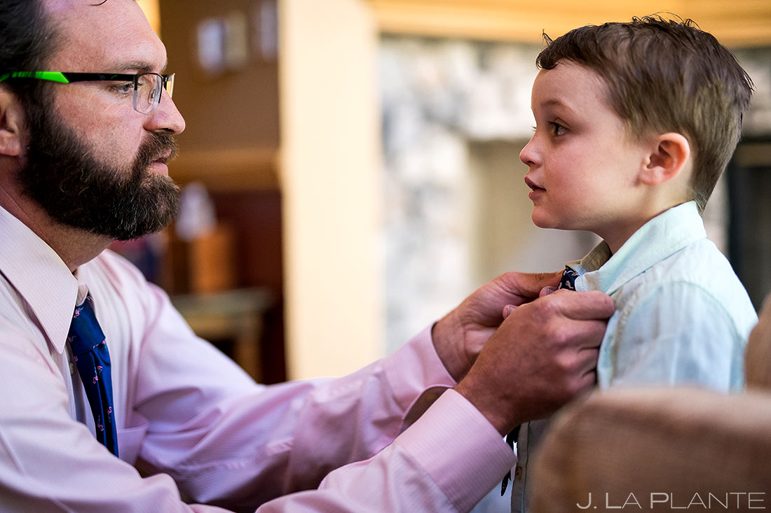 Ring Bearer Getting Ready | Beaver Creek Lodge Wedding | Beaver Creek Wedding Photographer | J. La Plante Photo
