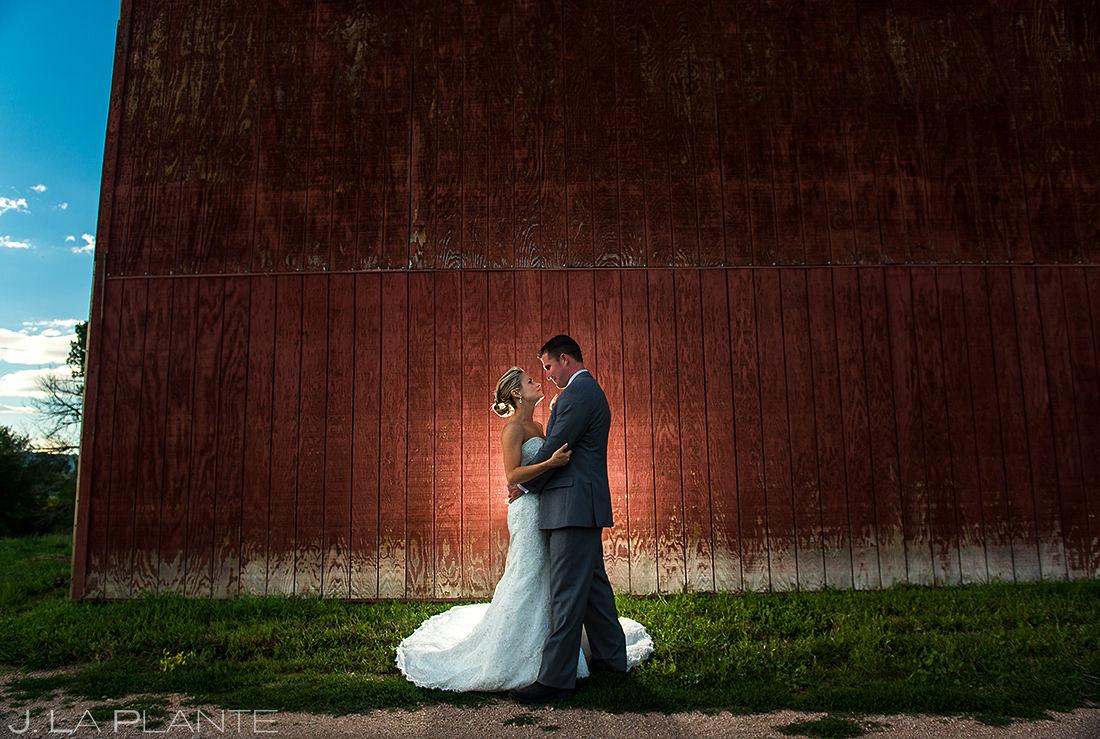 Rustic Barn Wedding Photo   Wiens Ranch Wedding   Colorado Wedding Photographer   J. La Plante Photo
