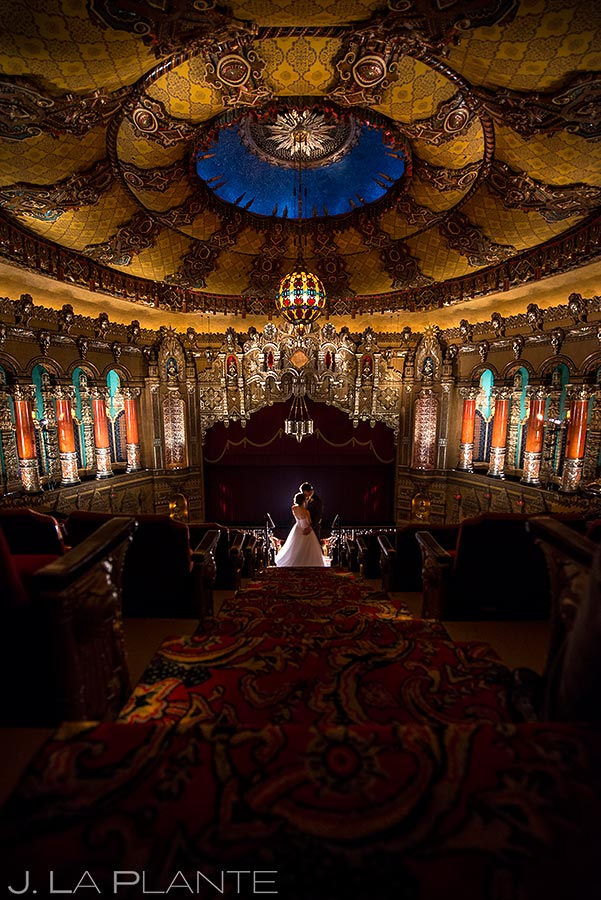 Fox Theatre Detroit Bride and Groom Photo   Fox Theatre Detroit Wedding   Destination Wedding Photographer   J. La Plante Photo