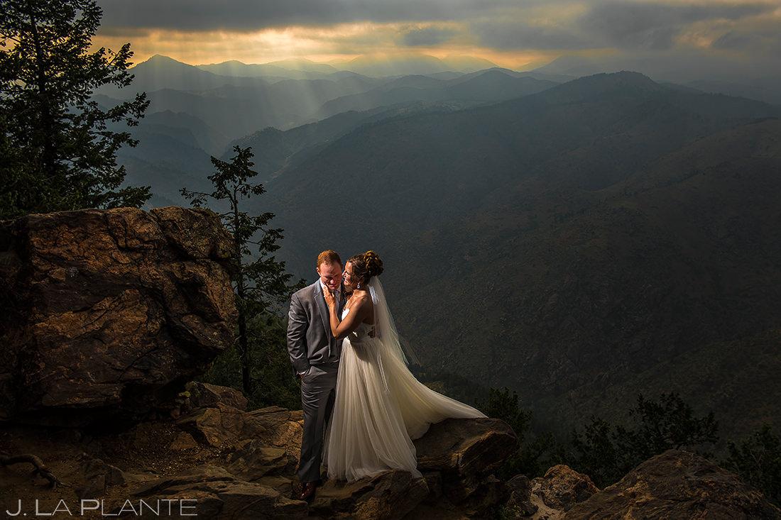 Bride and Groom Sunset Portrait   Boettcher Mansion Wedding   Denver Wedding Photographer   J. La Plante Photo