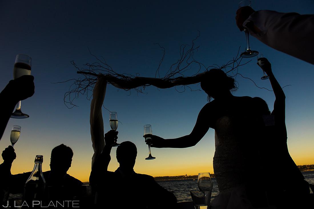 Villa Vashon Wedding Toasts   Vashon Island Wedding   Seattle Wedding Photographer   J. La Plante Photo
