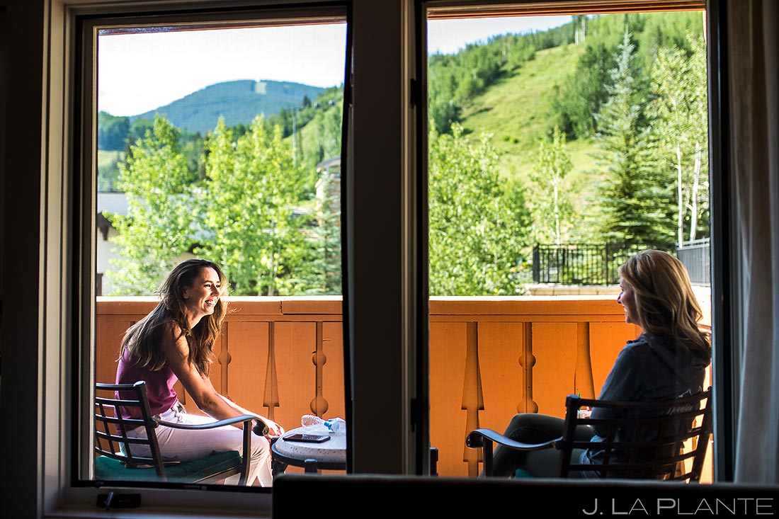 Bridesmaids Hanging Out | Vail Wedding Photographer | J. La Plante Photo