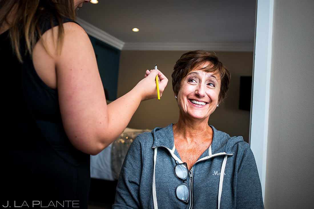 Mother of the Bride Getting Ready | Camp Hale Wedding | Vail Wedding Photographer | J. La Plante Photo