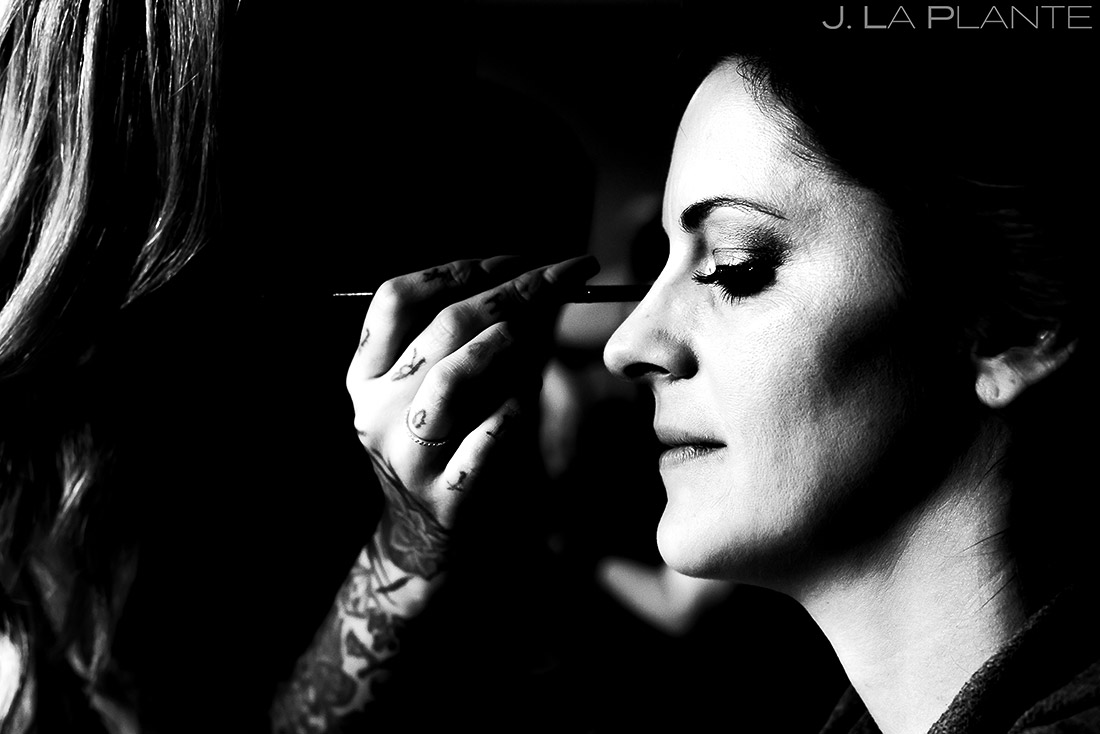 Bride Getting Ready | Camp Hale Wedding | Vail Wedding Photographer | J. La Plante Photo