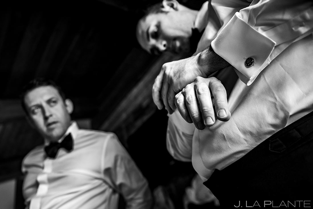Groom Getting Ready | Camp Hale Wedding | Vail Wedding Photographer | J. La Plante Photo