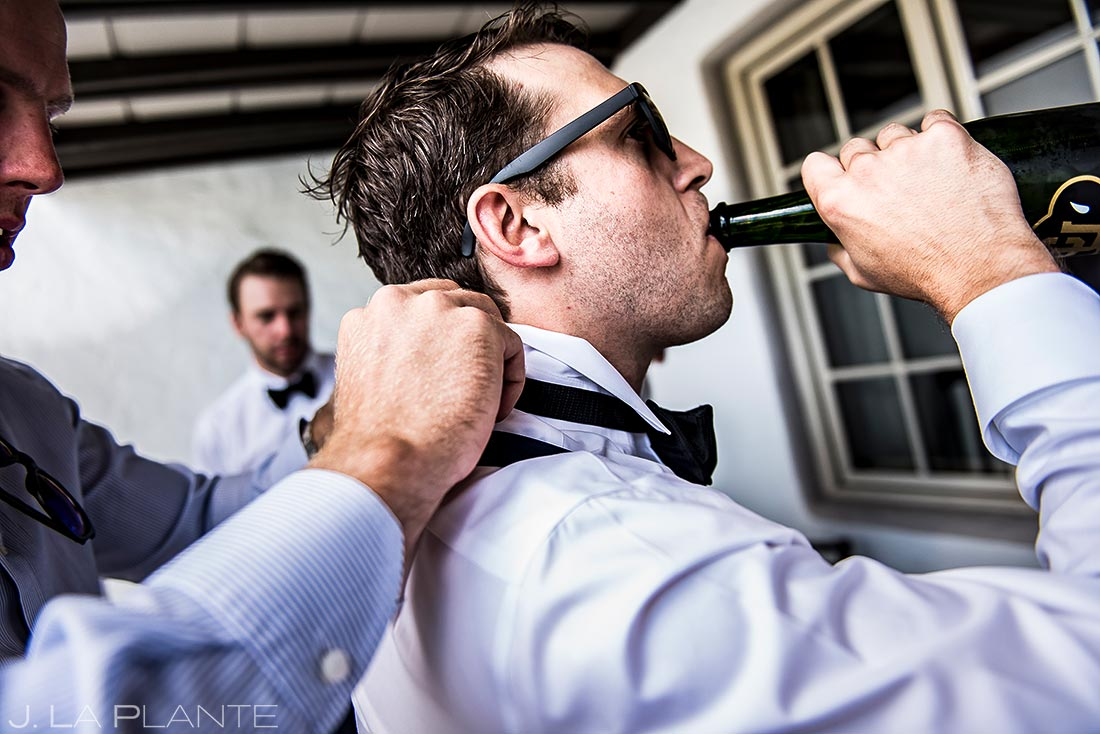 Groom Getting Ready | Vail Wedding Photographer | J. La Plante Photo