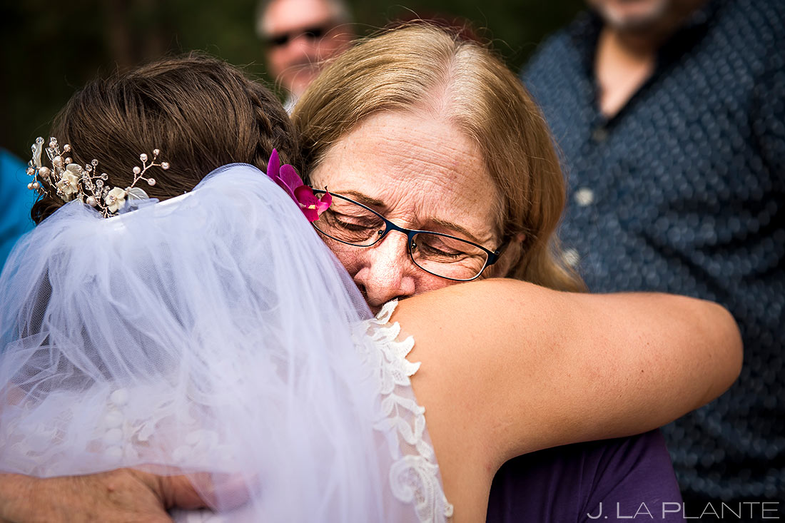 Outdoor Wedding Ceremony | Lodge at Cathedral Pines Wedding | Colorado Springs Wedding Photographer | J. La Plante Photo