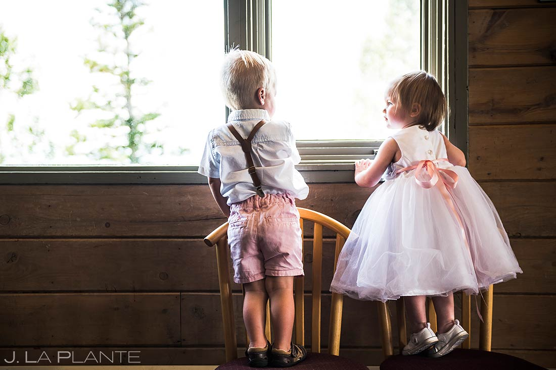 Ring Bearer with Flower Girl | Steamboat Springs Wedding | Colorado Wedding Photographer | J. La Plante Photo