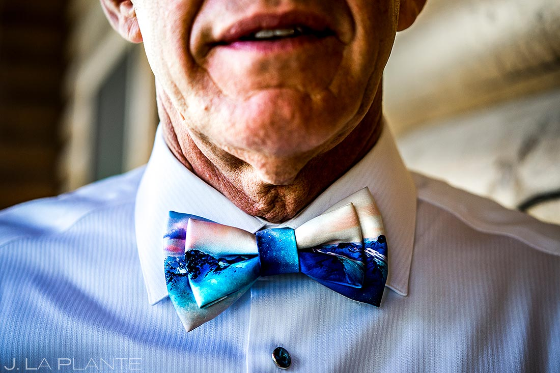 Father of the Bride Bow Tie | Vail Wedding Photographer | J. La Plante Photo