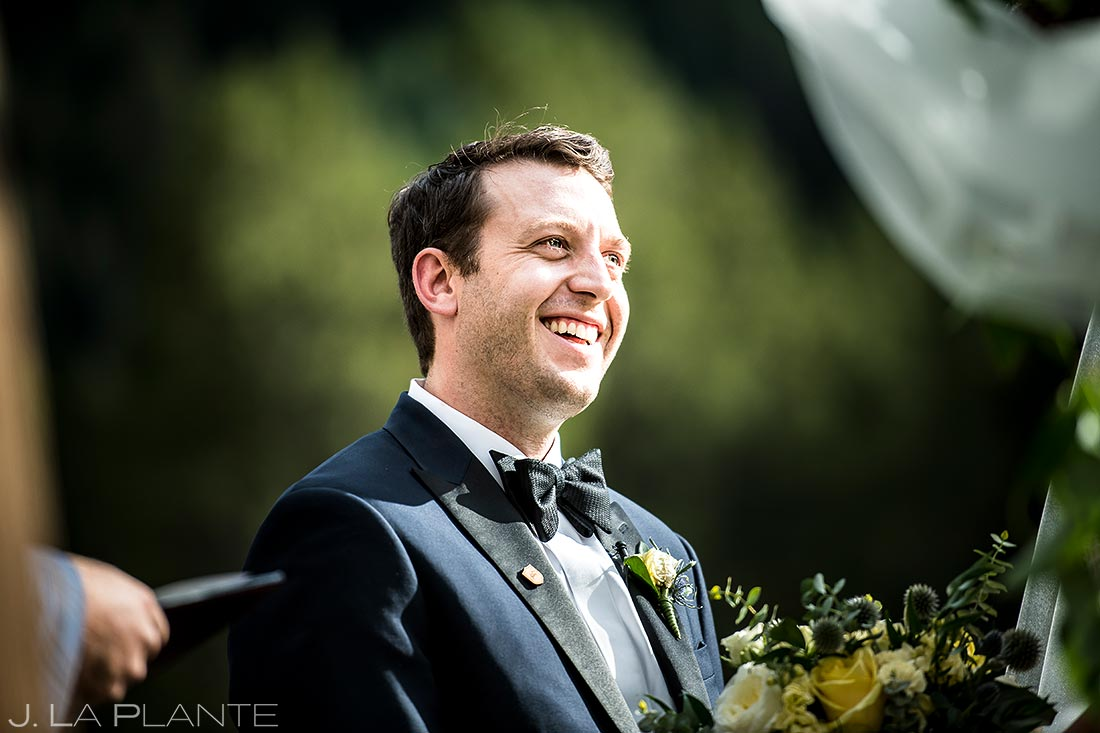 Rustic Mountain Wedding Ceremony | Vail Wedding Photographer | J. La Plante Photo