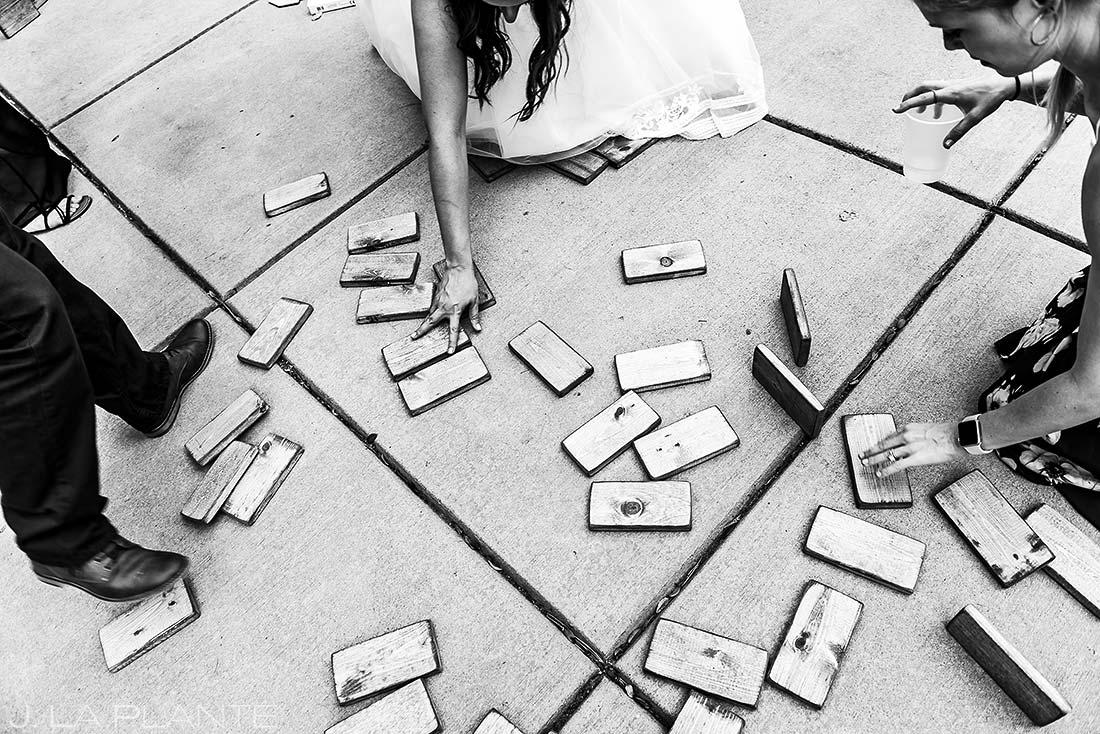 Wedding Reception Lawn Games | Lodge at Cathedral Pines Wedding | Colorado Springs Wedding Photographer | J. La Plante Photo