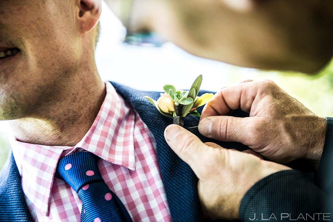 Groom's Boutonniere | Chautauqua Park Wedding | Boulder Wedding Photographer | J. La Plante Photo