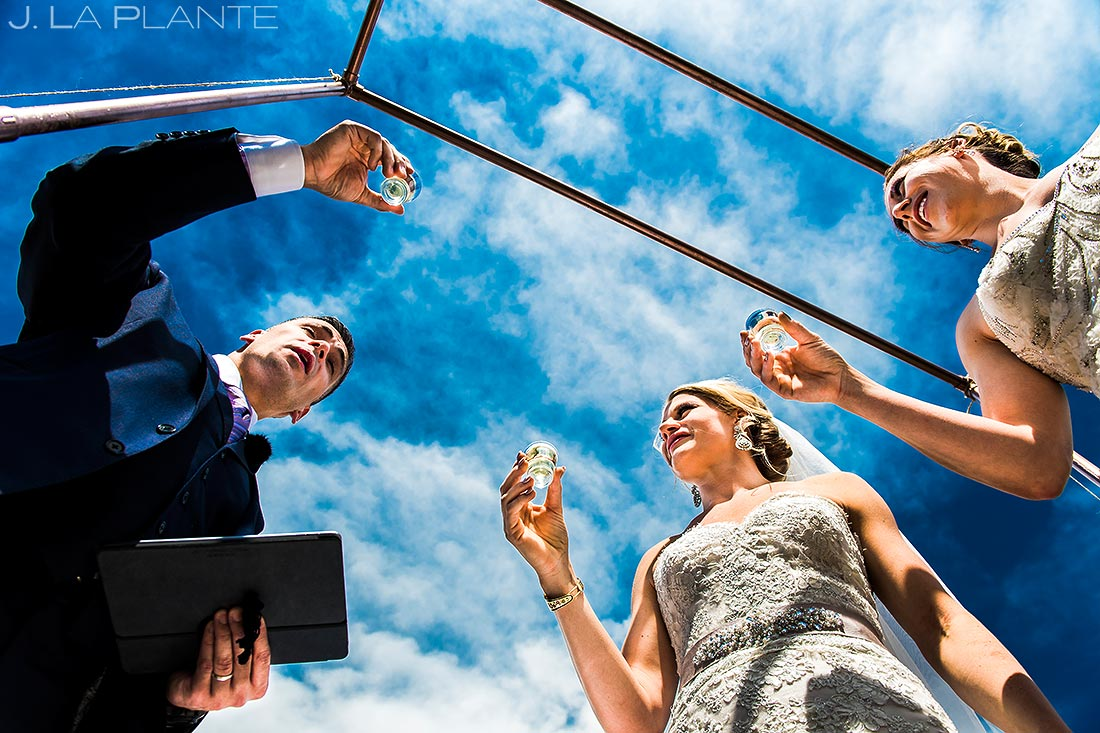 Bride Doing Tequila Shots | Steamboat Springs Wedding | Colorado Wedding Photographer | J. La Plante Photo