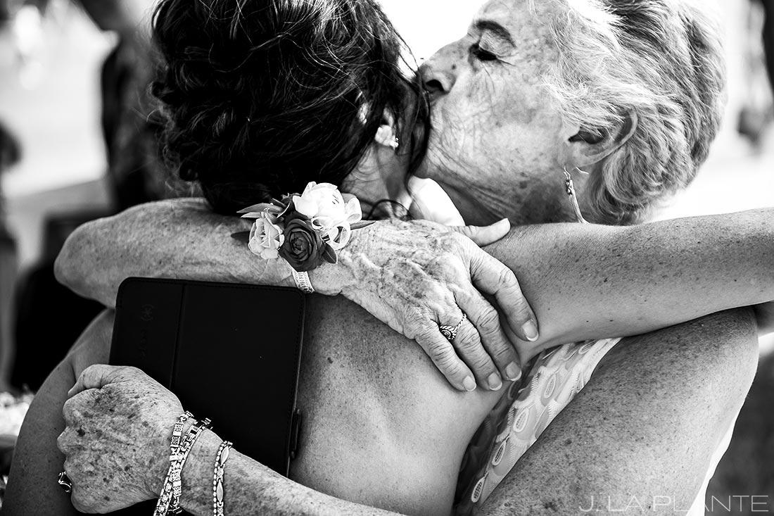 Bride Hugging Grandmother | Chautauqua Park Wedding | Boulder Wedding Photographer | J. La Plante Photo