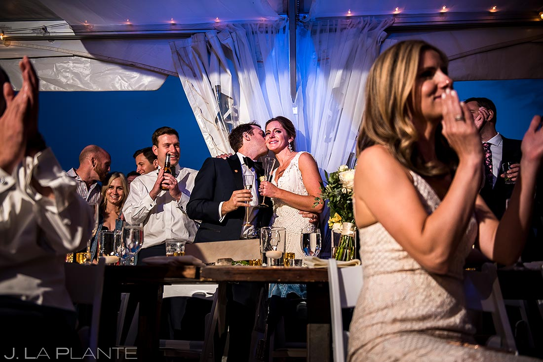Father of the Bride Speech | Camp Hale Wedding | Vail Wedding Photographer | J. La Plante Photo