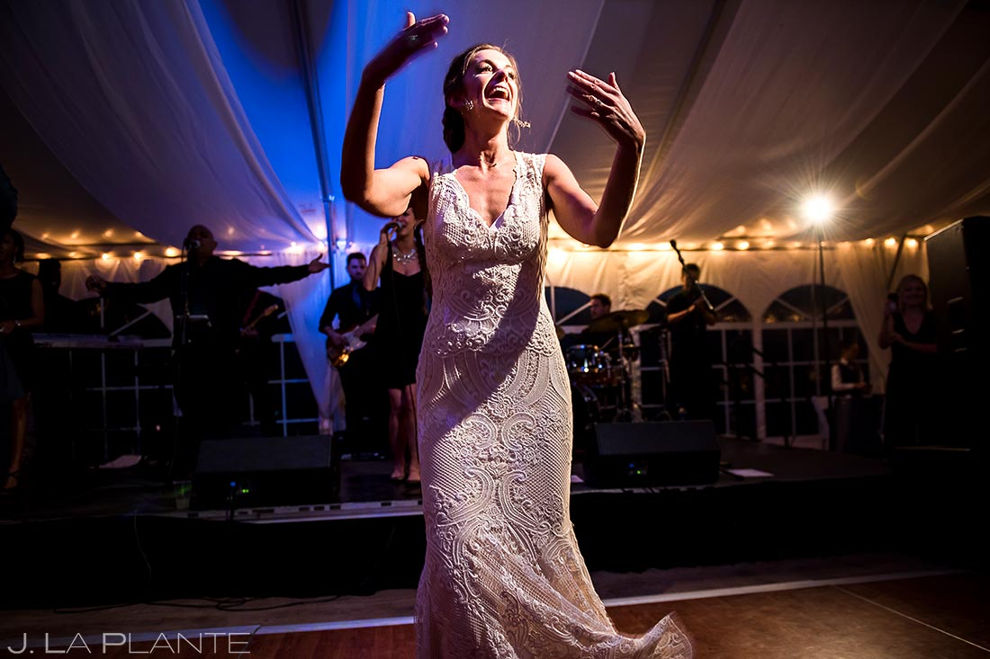 Bride Dancing | Vail Wedding Photographer | J. La Plante Photo