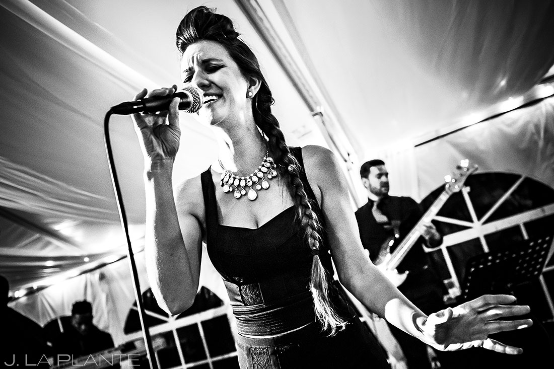 Mountain Wedding Reception Live Band | Camp Hale Wedding | Vail Wedding Photographer | J. La Plante Photo