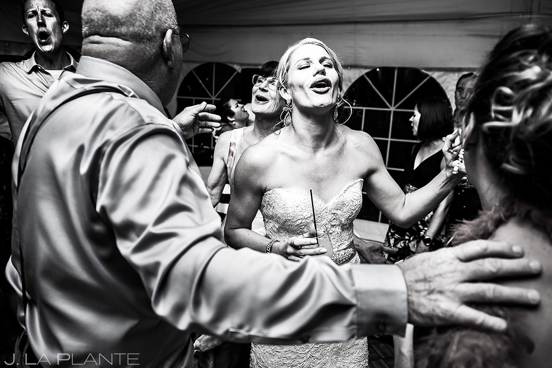 Wedding Reception Dance Party | Steamboat Springs Wedding | Colorado Wedding Photographer | J. La Plante Photo