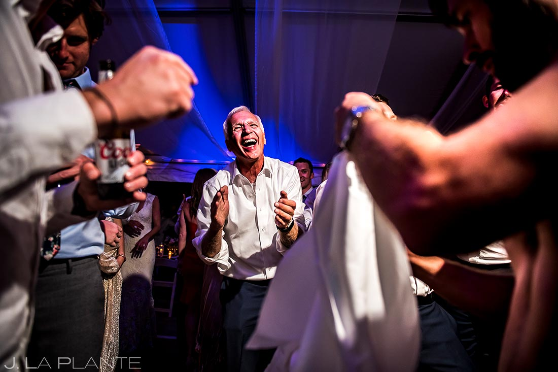 Mountain Wedding Reception Dance Party | Vail Wedding Photographer | J. La Plante Photo