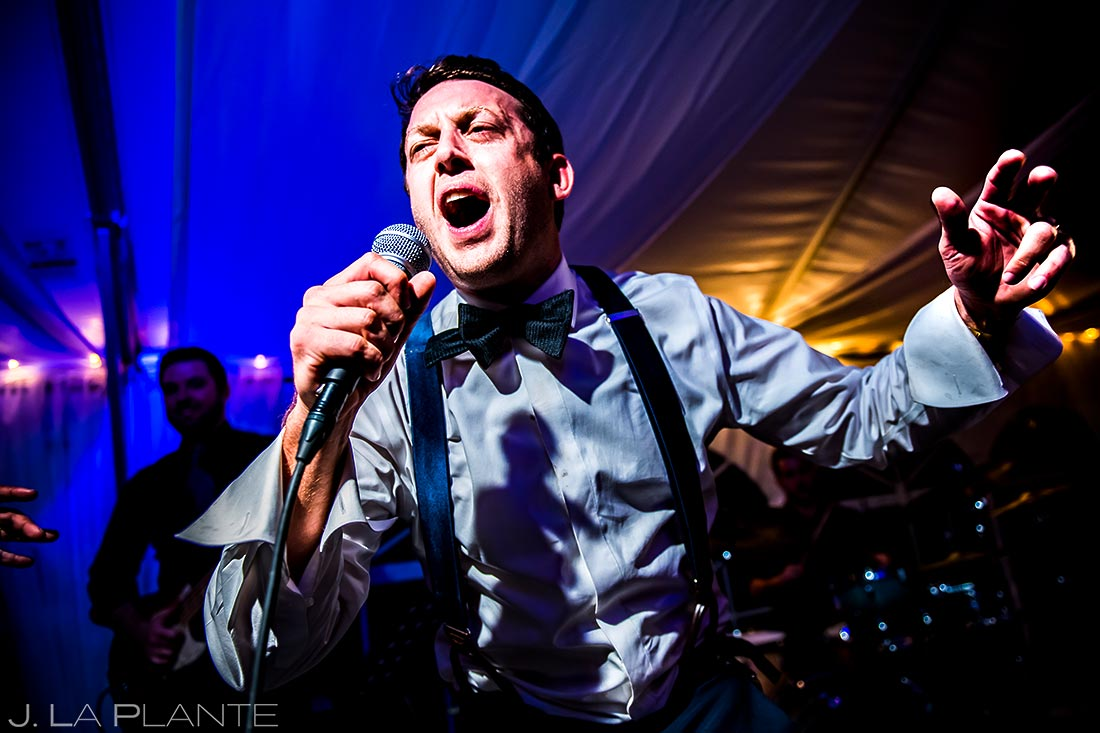 Groom Singing with Live Band | Vail Wedding Photographer | J. La Plante Photo