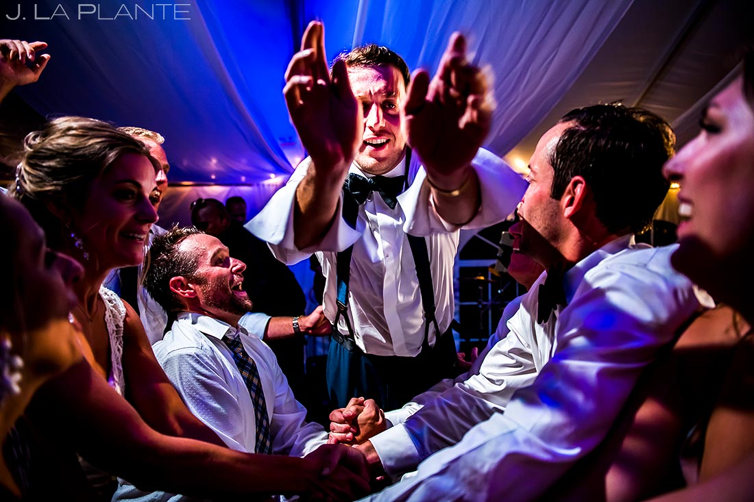 Groom Crowd Surfing | Camp Hale Wedding | Vail Wedding Photographer | J. La Plante Photo