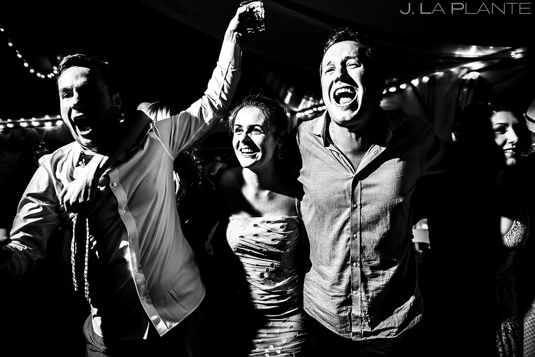 Mountain Wedding Reception Dance Party | Camp Hale Wedding | Vail Wedding Photographer | J. La Plante Photo