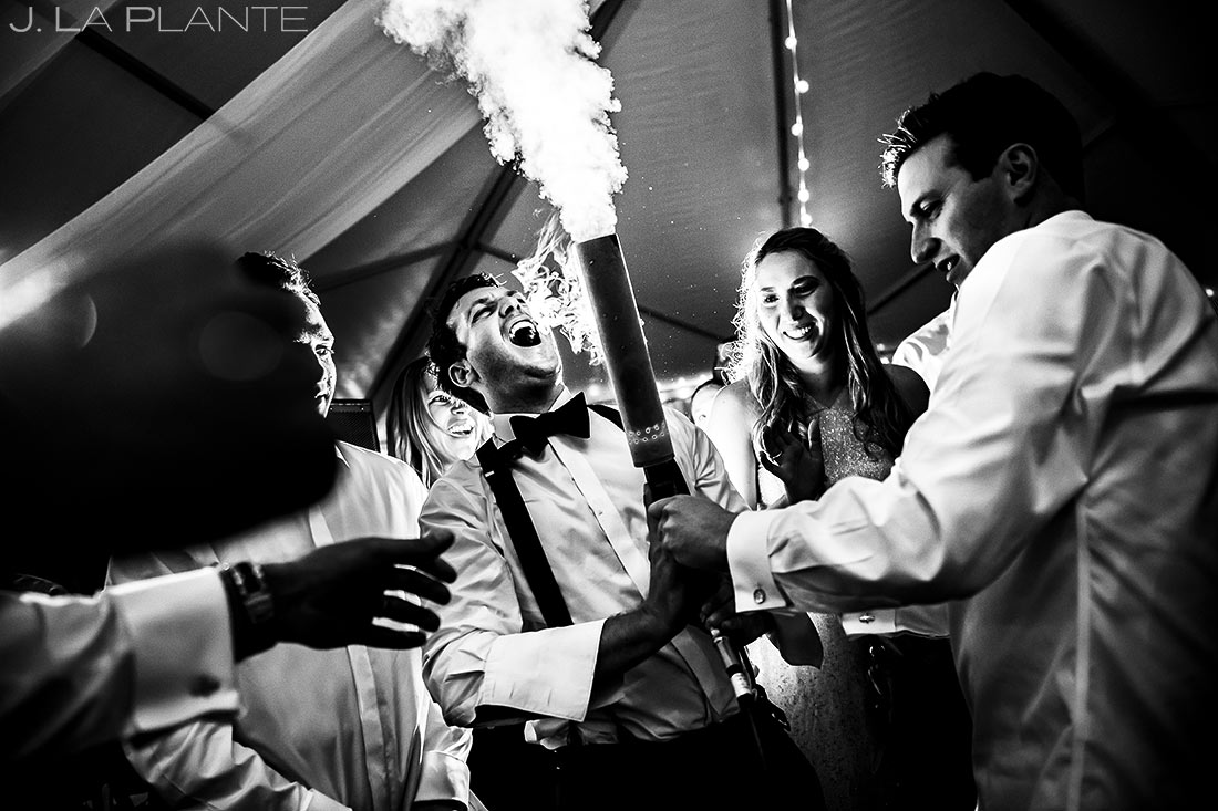 Groom Shooting CO2 Canon | Camp Hale Wedding | Vail Wedding Photographer | J. La Plante Photo