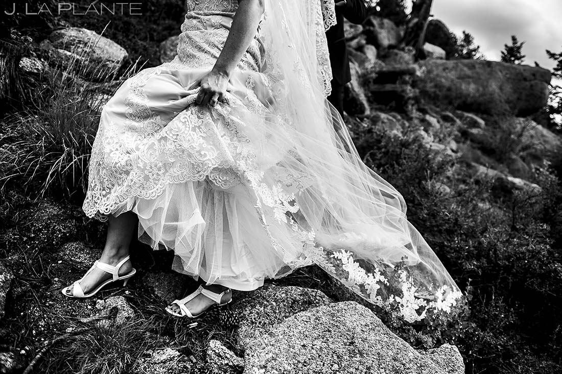 Wedding Dress Details | Della Terra Wedding | Estes Park Wedding Photographer | J. La Plante Photo