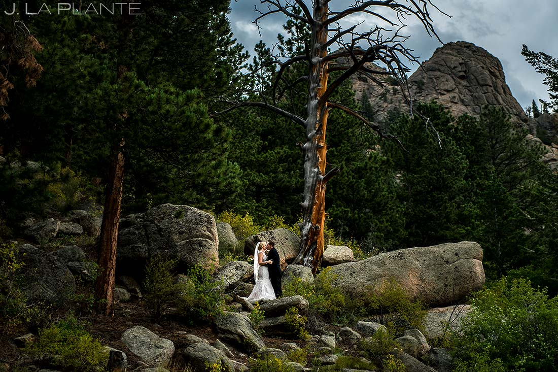 Bride and Groom Portrait | Della Terra Wedding | Estes Park Wedding Photographer | J. La Plante Photo