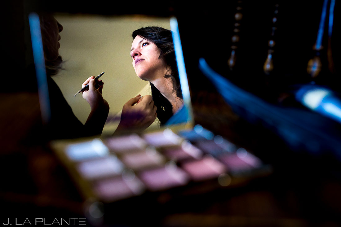 Bride Getting Ready | Dao House Wedding | Estes Park Wedding Photographer | J. La Plante Photo