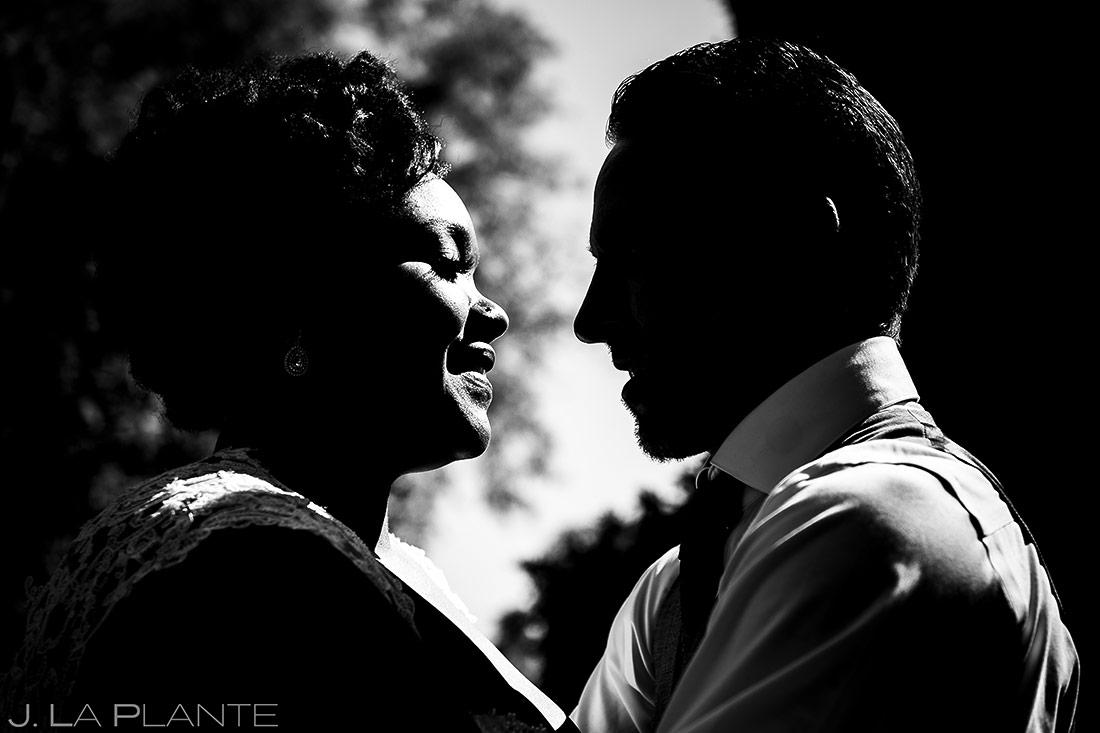 Bride and Groom First Look | Denver Botanic Gardens Wedding | Denver Wedding Photographer | J. La Plante Photo