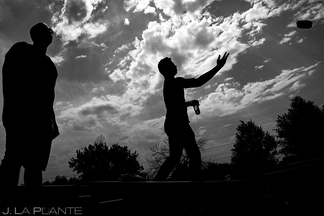 Groomsmen Playing Cornhole | Manor House Wedding | Denver Wedding Photographer | J. La Plante Photo