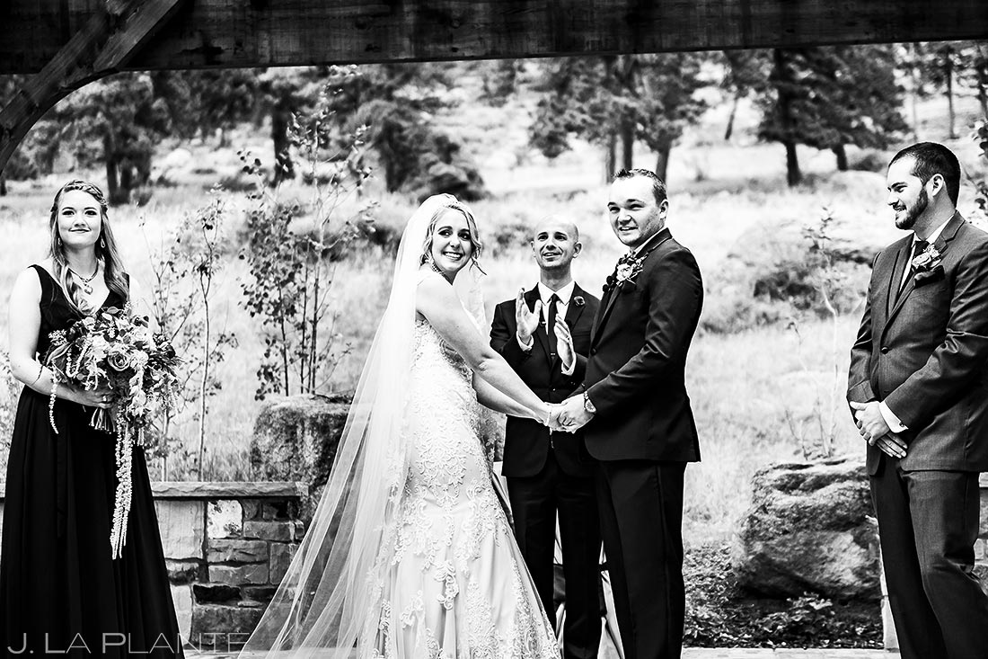 Mountain Wedding Ceremony | Della Terra Wedding | Estes Park Wedding Photographer | J. La Plante Photo