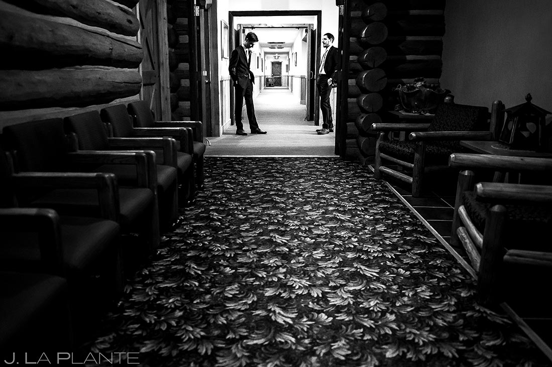 Groom with Best Man   Dao House Wedding   Estes Park Wedding Photographer   J. La Plante Photo