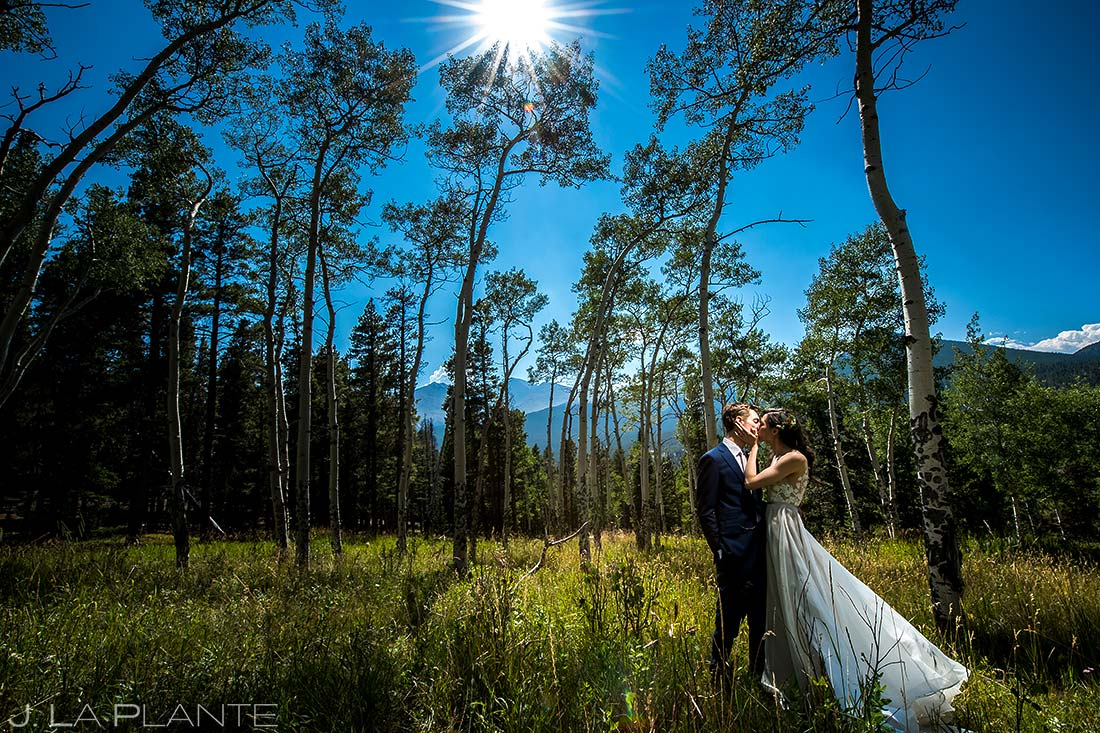 Bride and Groom Wedding Portrait | Dao House Wedding | Estes Park Wedding Photographer | J. La Plante Photo