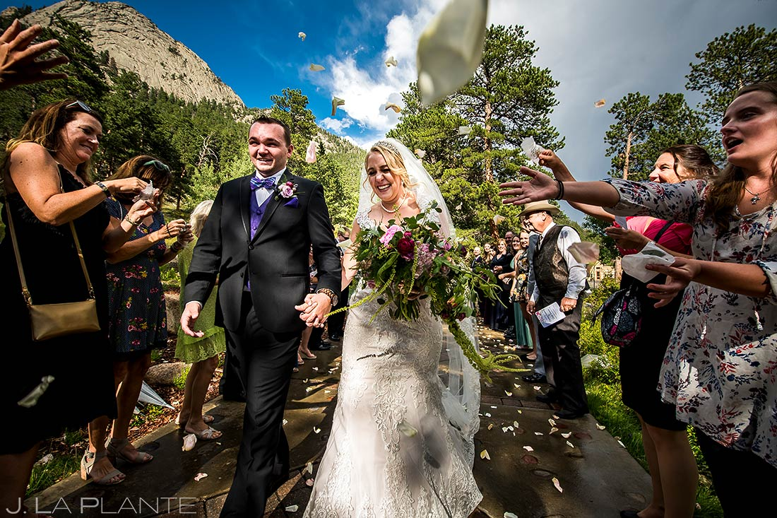 Bride and Groom Send Off | Della Terra Wedding | Estes Park Wedding Photographer | J. La Plante Photo