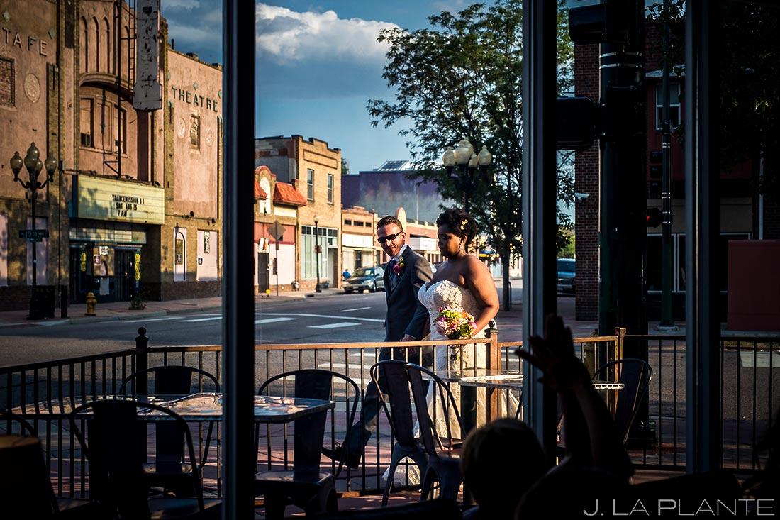Bride and Groom Reception Entrance | Denver Botanic Gardens Wedding | Denver Wedding Photographer | J. La Plante Photo