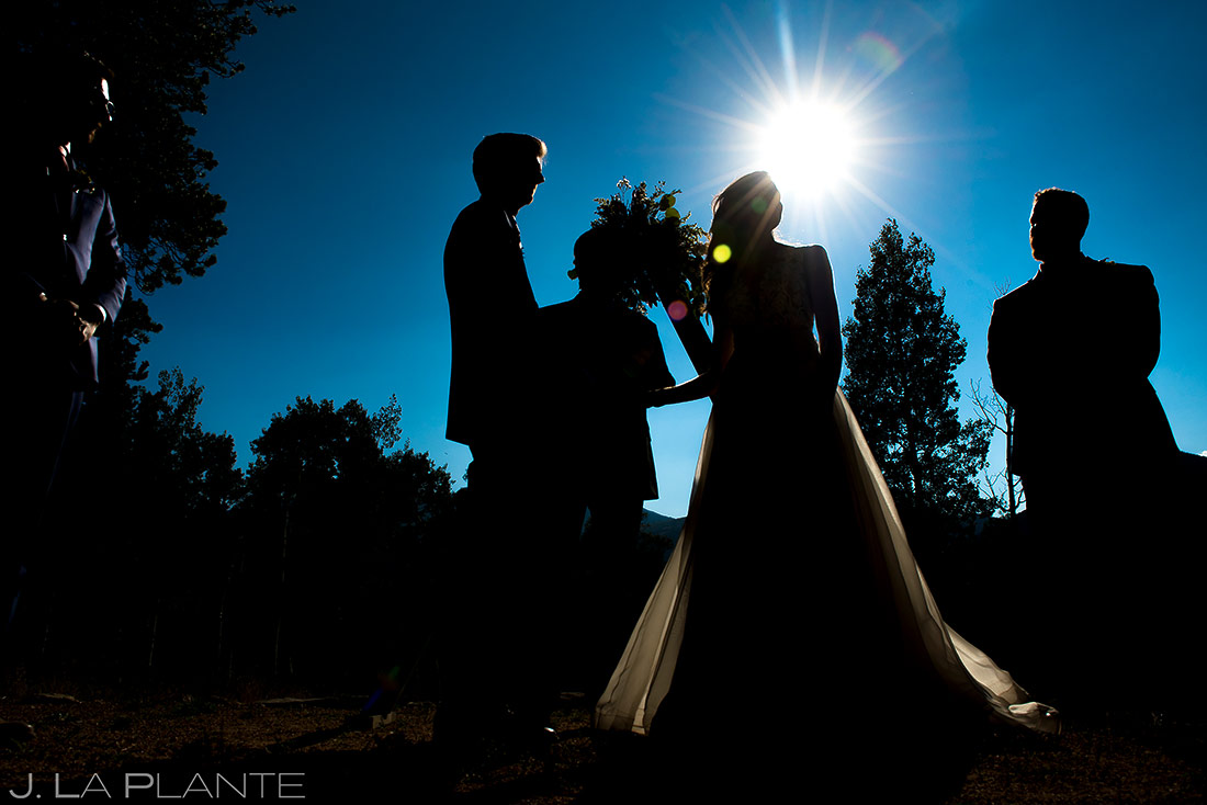Outdoor Mountain Wedding Ceremony | Dao House Wedding | Estes Park Wedding Photographer | J. La Plante Photo