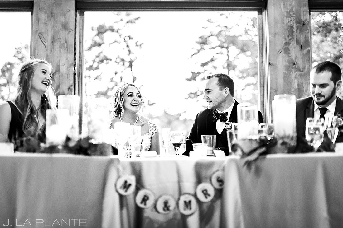 Wedding Toasts | Della Terra Wedding | Estes Park Wedding Photographer | J. La Plante Photo