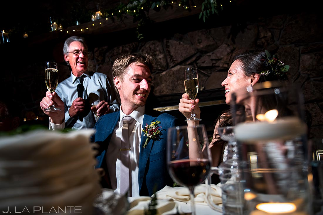 Father of the Groom Speech | Dao House Wedding | Estes Park Wedding Photographer | J. La Plante Photo