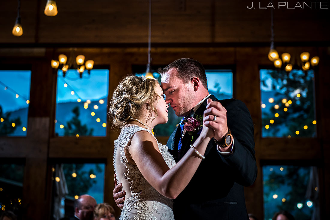 Bride and Groom First Dance | Della Terra Wedding | Estes Park Wedding Photographer | J. La Plante Photo