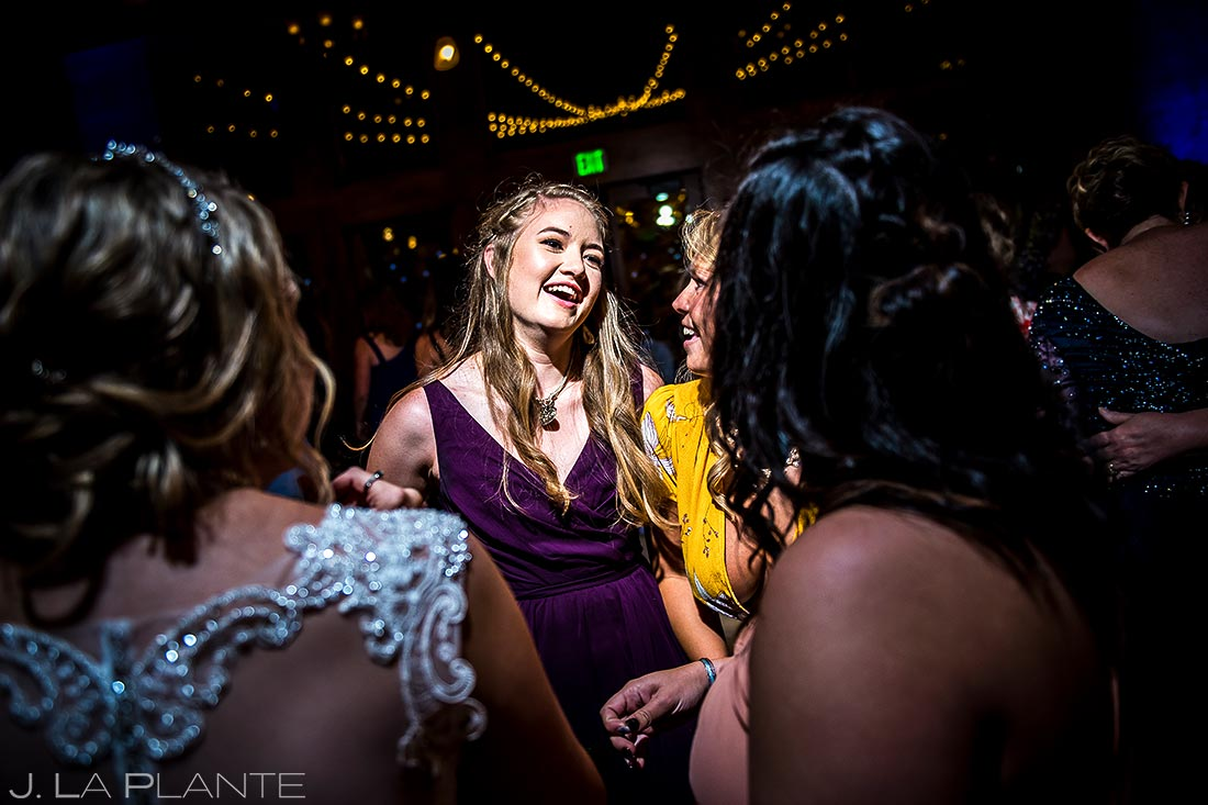 Bridesmaids Dancing | Della Terra Wedding | Estes Park Wedding Photographer | J. La Plante Photo