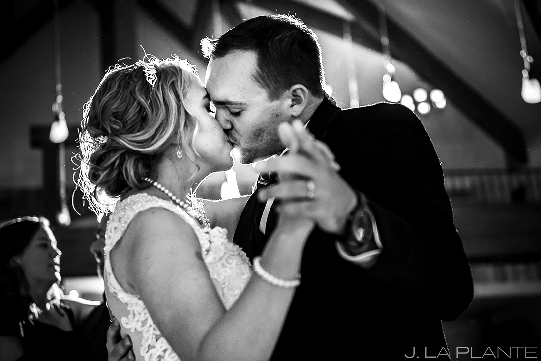 Bride and Groom Dancing | Della Terra Wedding | Estes Park Wedding Photographer | J. La Plante Photo