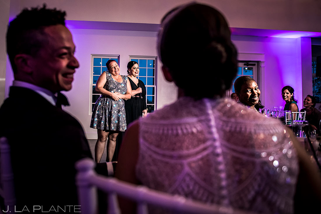 Wedding Reception Speeches | Manor House Wedding | Denver Wedding Photographer | J. La Plante Photo