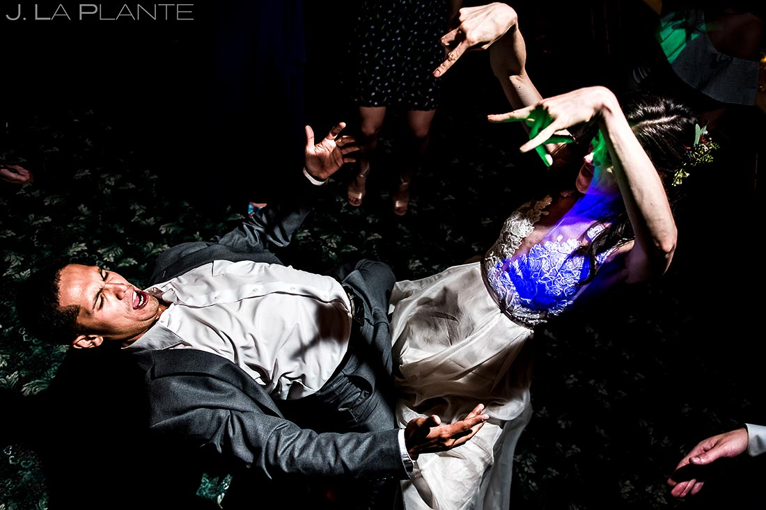 Wedding Reception Dance Party | Dao House Wedding | Estes Park Wedding Photographer | J. La Plante Photo