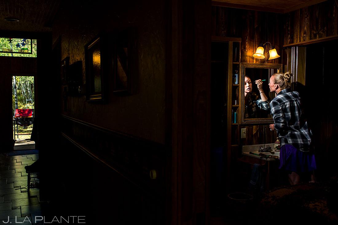 Bride Getting Ready | Buena Vista Wedding | Rustic Mountain Wedding | Colorado Wedding Photographer | J. La Plante Photo