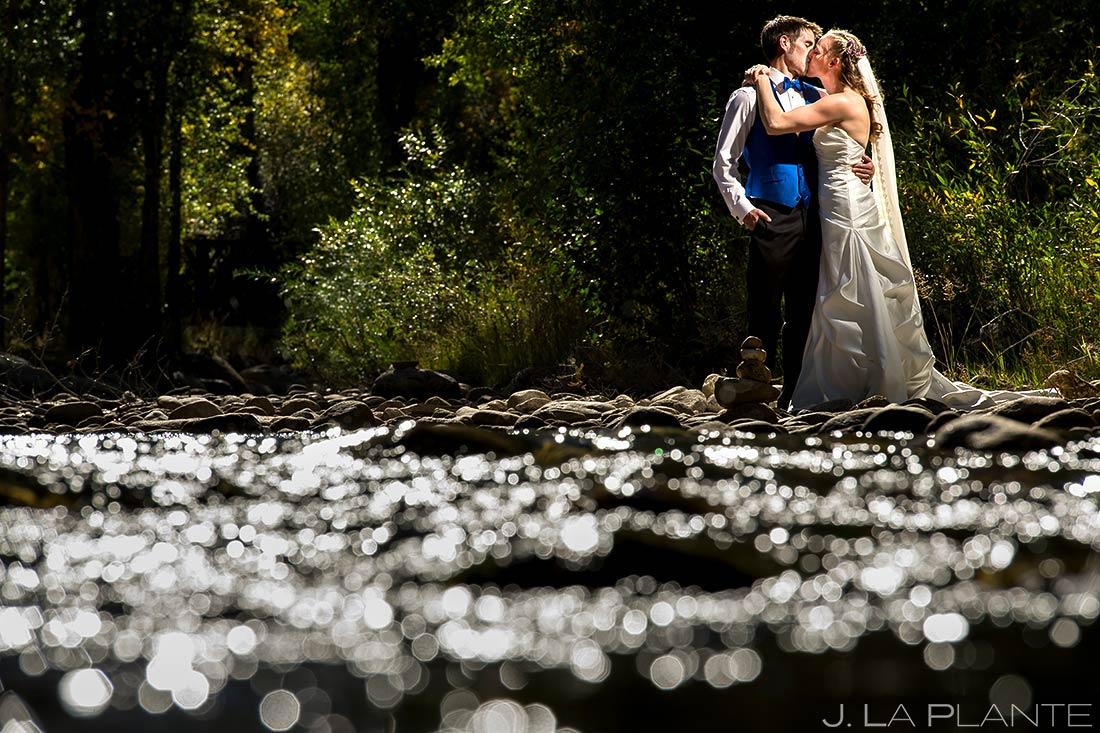 Bride and Groom Portrait | Buena Vista Wedding | Rustic Mountain Wedding | Colorado Wedding Photographer | J. La Plante Photo