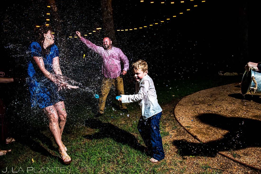 Wedding Water Balloon Fight | Dallas Winery Wedding | Destination Wedding Photographer | J. La Plante Photo