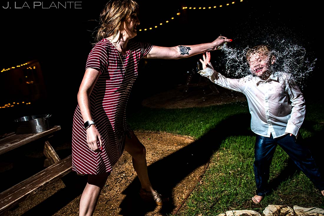 Wedding Water Balloon Fight | Dallas Winery Wedding | Destination Wedding Photographer | J. La Plante Photo
